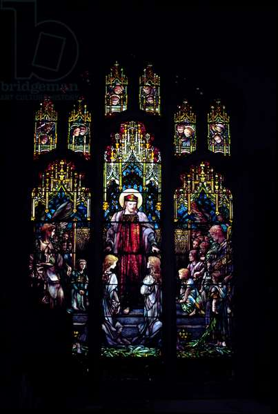 Christ with little children, 1902 (stained glass window)