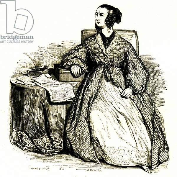 Politician woman (engraving, 1853)