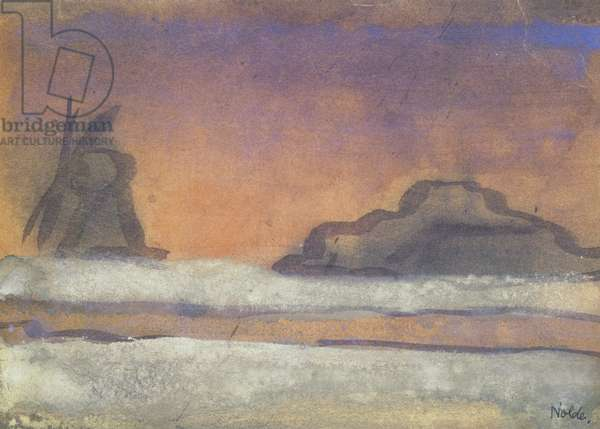 Landscape with Windmill (w/c on paper)