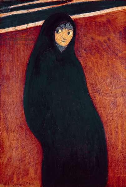 Hooded Figure, 1913 (w/c)