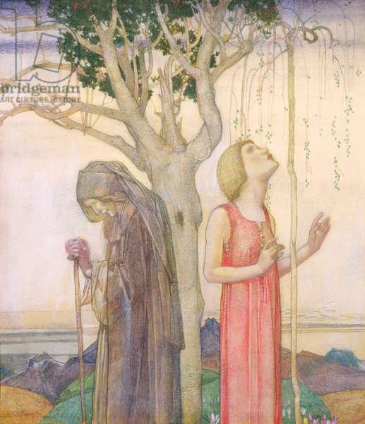 Youth and Age, 1923 (egg tempera)