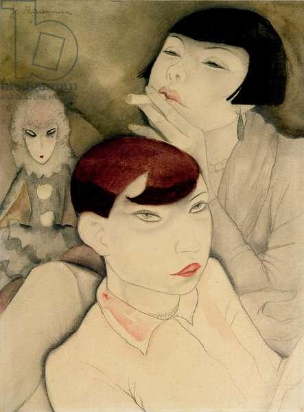 Boring Dolls, 1927-30 (pencil & w/c on paper)