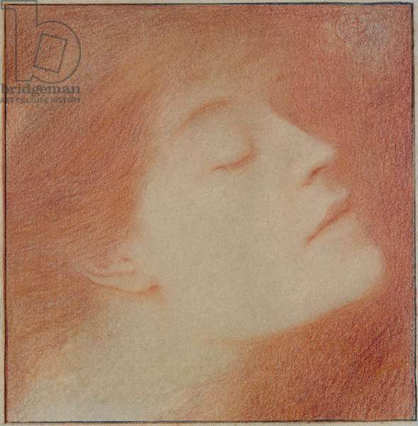 Head of a Woman, 1892 (chalk on paper)