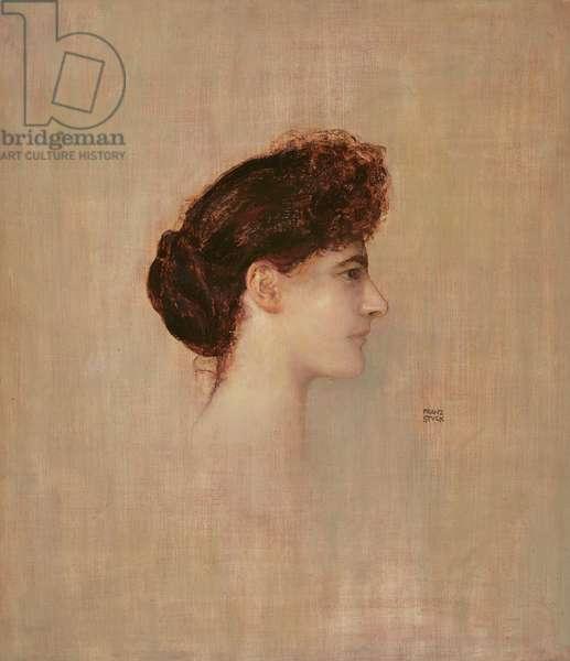 Portrait of a Woman, 1892 (oil on board)