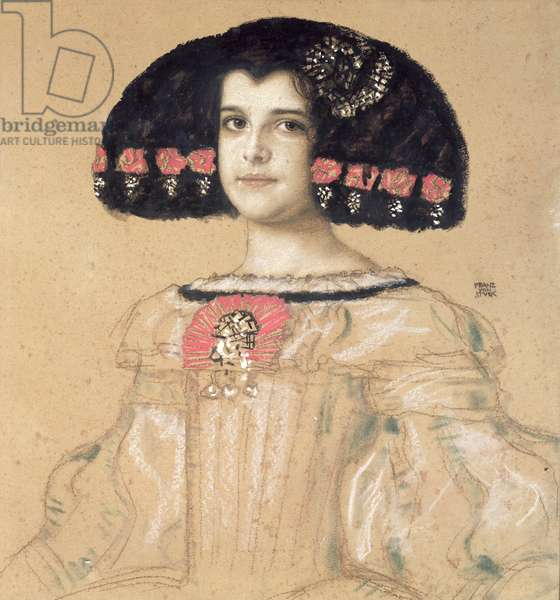 Portrait of Mary, the Artist's Daughter, c.1908 (pencil, wash & pastel on board)