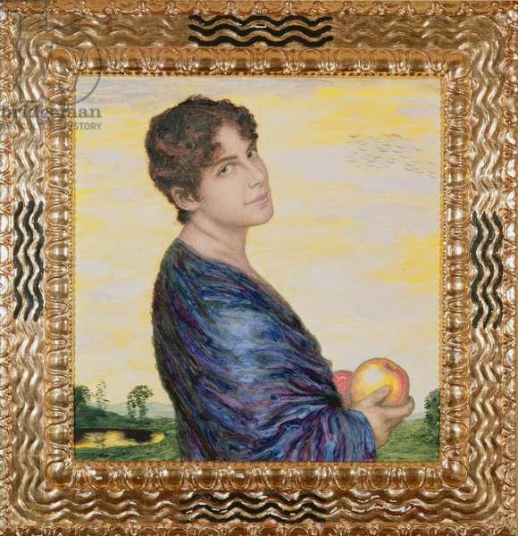 Woman holding an Apple, c.1916 (oil)