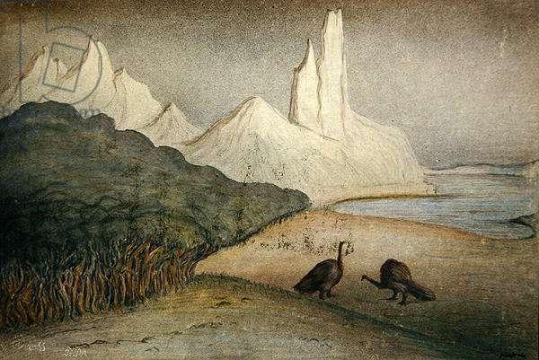 Prehistoric World, 1904-05 (w/c on paper)