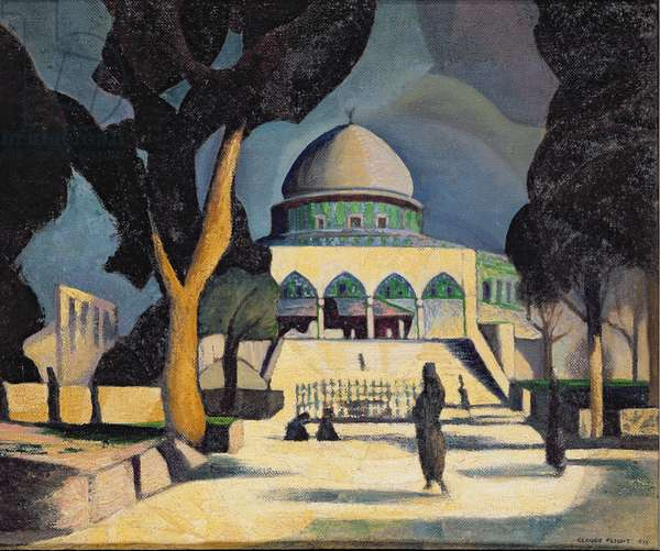 The Dome of the Rock, Jerusalem, 1923 (oil on canvas)