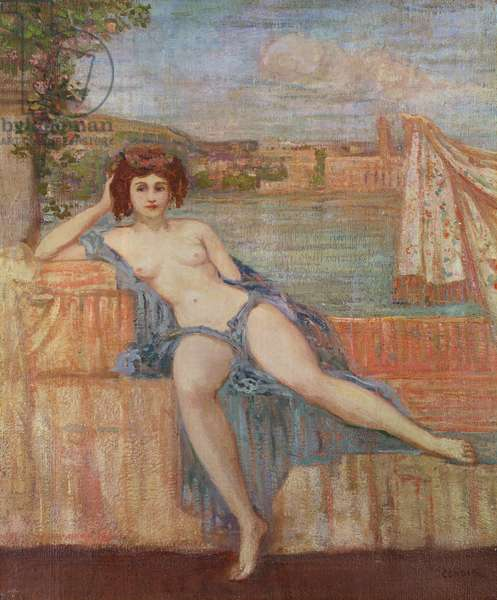 Nymph by Harbour (oil on canvas)