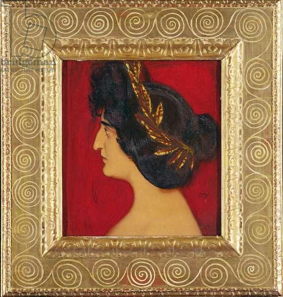 Roman Woman (oil on board)