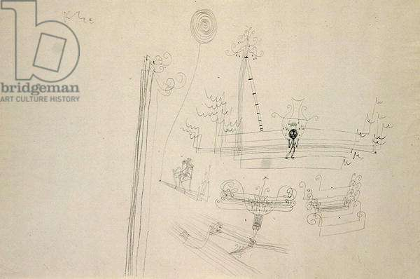 The Child must Harvest, 1928 (pen & ink on paper)