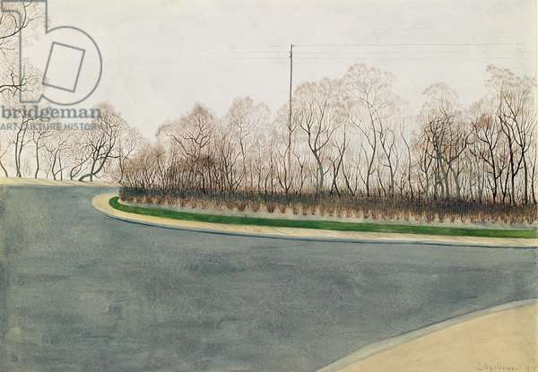 Deserted Road, 1915 (w/c on paper)
