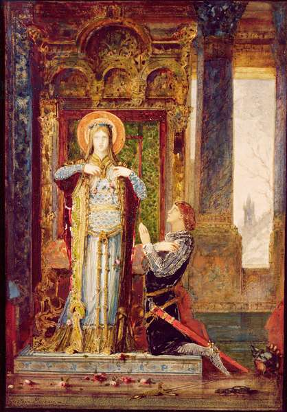 St. Elisabeth of Hungary, or The Miracle of the Roses, 1879 (w/c on paper)