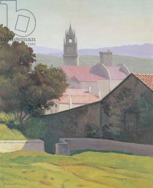 Landscape with Church, 1920 (oil on canvas)