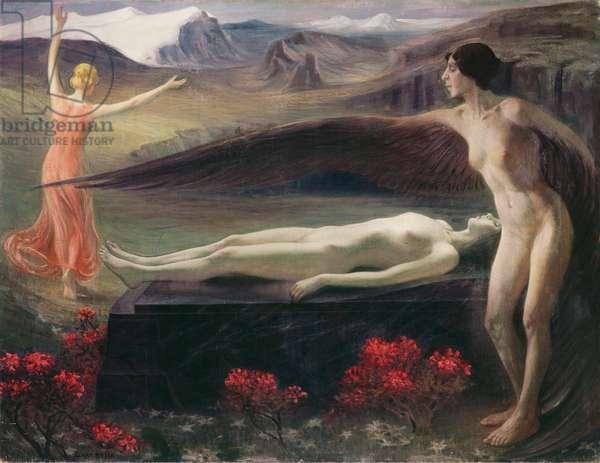 Women in a Landscape (oil on canvas)