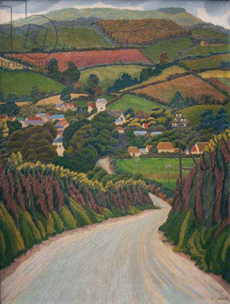 Penally Hill, Cornwall, 1916 (oil on canvas)