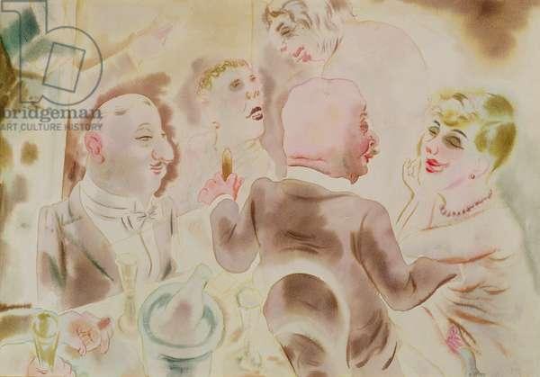Restaurant Scene, c.1917 (w/c on paper)