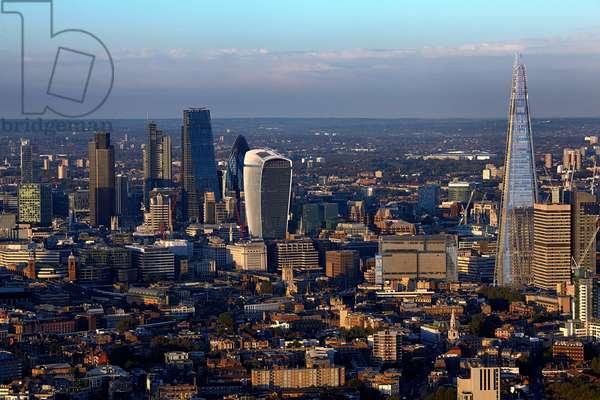London Cityscape from Elephant and Castle, UK (photo)