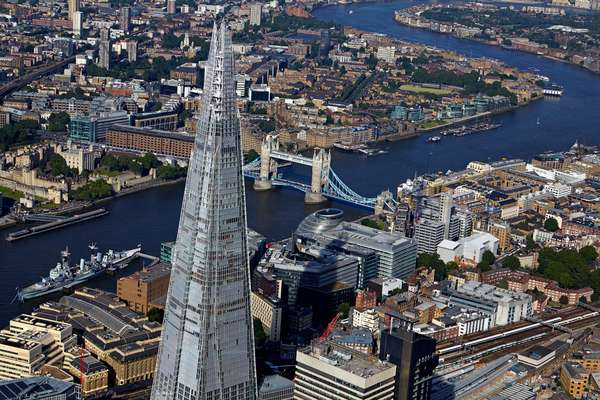View of the Shard, London, UK (photo)