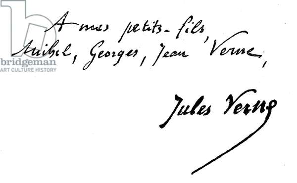 Signature signed by Jules Verne (1828 - 1905).