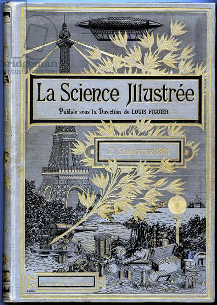 Cover of a volume of La Science Illustrée (published under the direction of Louis Figuier), second semester 1891