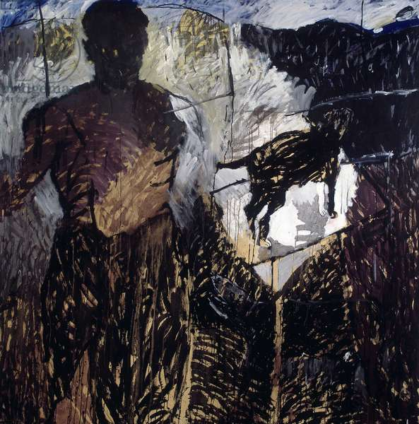 Untitled, 1989 (acrylic on canvas)