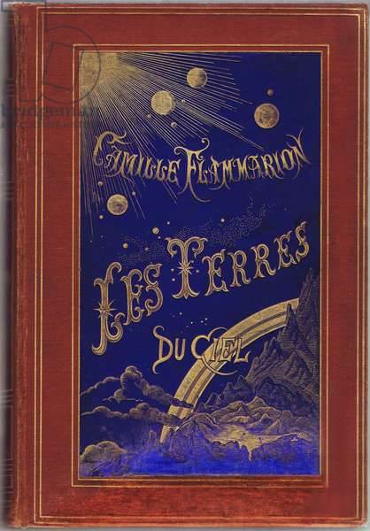 """Cover of the book """""""" Les Terres du ciel"""""""", Camille Flammarion 1884 - popular astronomy -"""