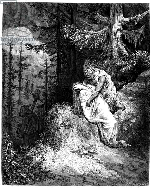 Illustration by Gustave Dore (1832-1883) for the novel by Francois Rene de Chateaubriand (1768-1848), Atala, edition Hachette 1863 -