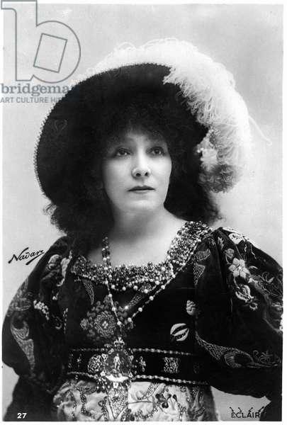 "Henriette Rosine Bernard dit Sarah Bernhardt (1844-1923) photographed by Paul Nadar as """" Gismonda"", play by Victorien Sardou, 1894."