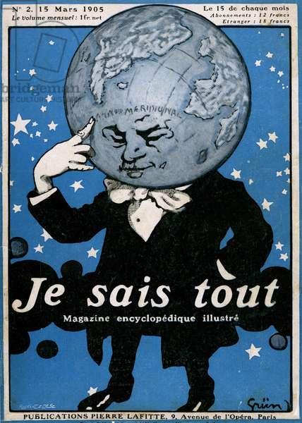"Cover of the illustrious encyclopedic magazine ""Je sais tout"" N°2, March 15, 1905 (litho)"