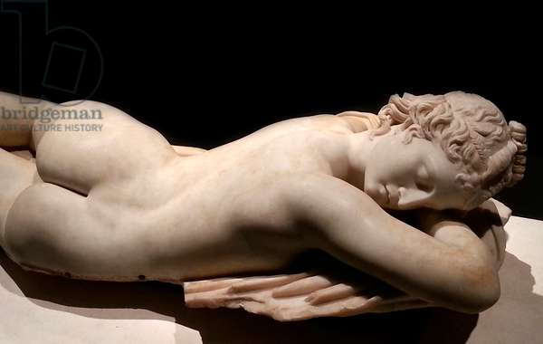 Sleeping Hermaphrodite: Roman art, 1st century B.C. (marble)