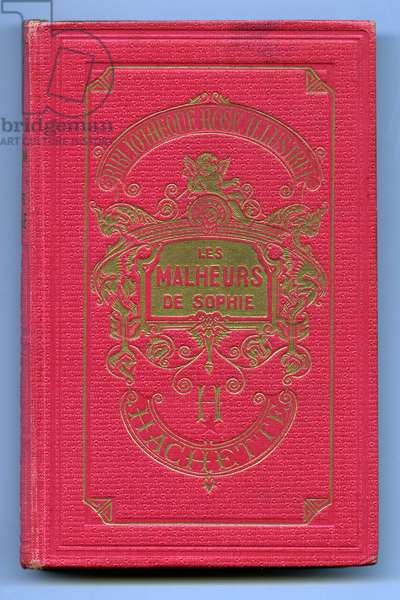 """Cover of the book """"The misfortunes of Sophie"""" by the Countess of Segur (Sophie Rostopchine, 1799-1874), early 20th century"""