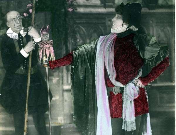 """Henriette Rosine Bernard called Sarah Bernhardt (1844-1923) in the play """""""" Les bouffons"""""""""""