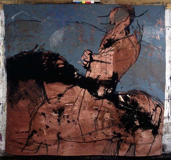 Cavalier, 1989, coll. part, (acrylic on canvas)