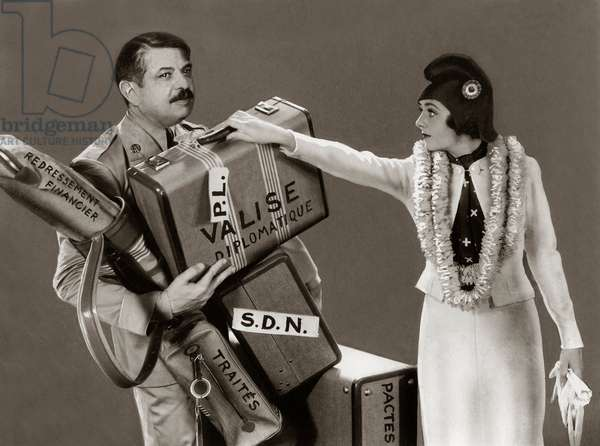Pierre Laval and Marianne (photomontage, 1935)