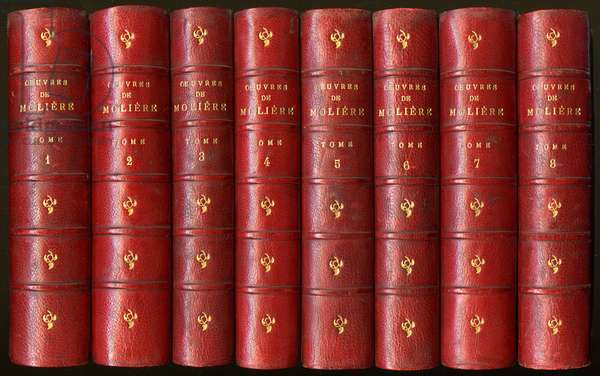 The complete works of Moliere in 8 volumes, popular edition Marpon and Flamarion 19th century.