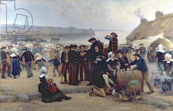 The Pardon in Brittany (oil on canvas) (see 164316, 164317 for detail)