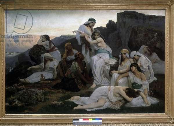 Jephte's daughter,  1876 (oil on canvas)