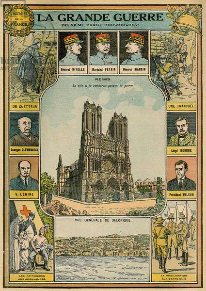 The Great War 1914-1918: from 1915 to 1917 - Reims, city and cathedral during the war