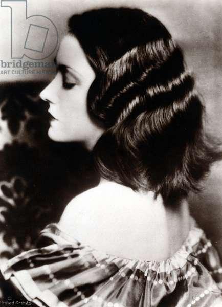 Photoportrait of actress Gloria Swanson (G. Svensson, 1899 - 1983).