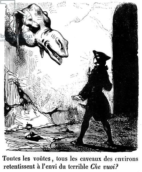 "Illustration for the novel ""Le Diable amoureux"" by Jacques Cazotte (1719-1792), edition Ganivet, 1845 (engraving)"