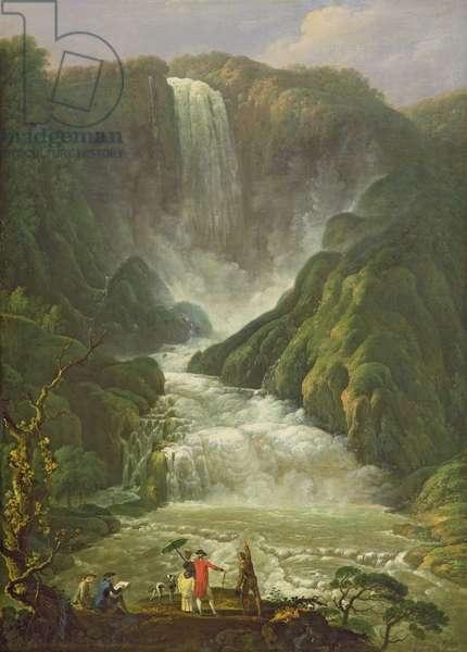 The Falls of Terni (oil on canvas)