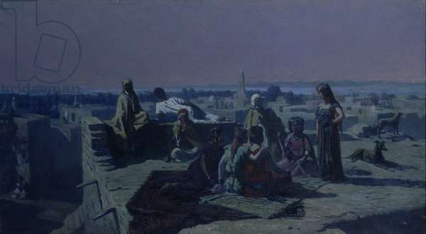 Evening in the Oasis, 1906 (oil on canvas)