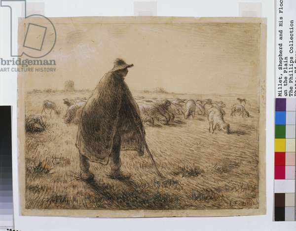 The Shepherd, c.1872-74 (conte crayon on paper)