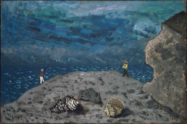 Shells and Fishermen, 1941 (oil on canvas)