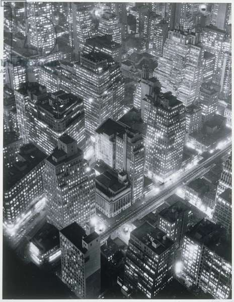 New York at Night, 1975 (gelatin silver print)