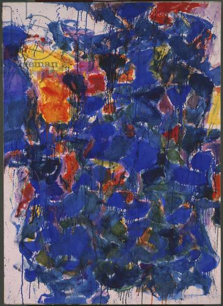 Blue, 1958 (oil on canvas)