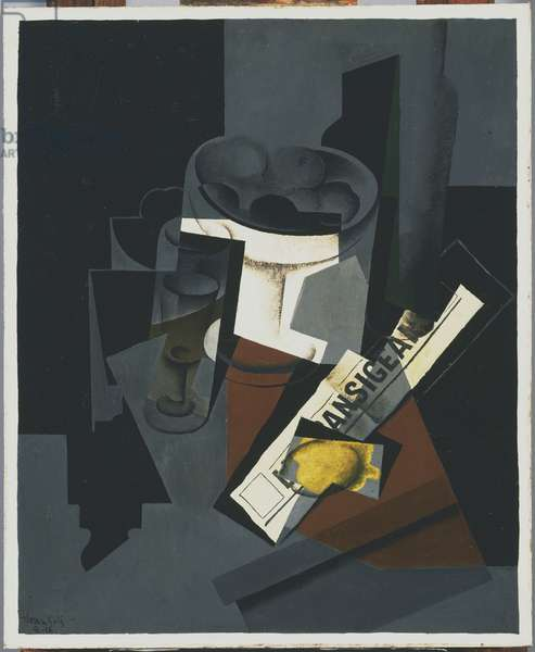 Still Life with Newspaper, 1916 (oil on canvas)