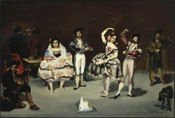 Spanish Ballet, 1862 (oil on canvas)