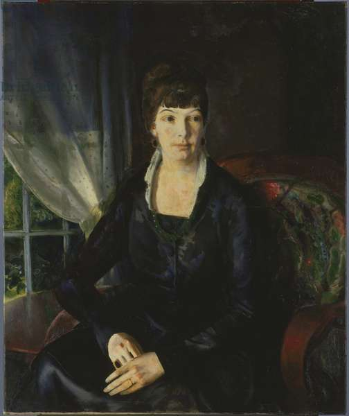 Emma at the Window, 1920 (oil on canvas)
